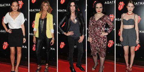Clothing, Footwear, Leg, Flooring, Red, Outerwear, Dress, Style, Carpet, Fashion accessory,