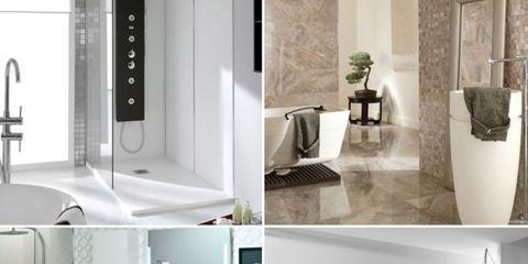 A la última en decoración de cuartos de baño