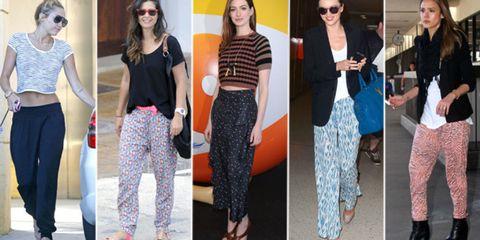bd9cf060e Las celebrities se han apuntado a una de las tendencias más controvertidas  de este verano 2012  el pantalón pijama. Y tú