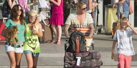 Arm, Leg, jean short, Bag, Shorts, Luggage and bags, Thigh, Fashion, Travel, Street fashion,