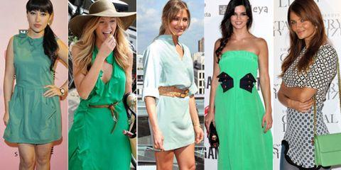 Image result for outfit en color verde para el verano