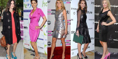 Clothing, Footwear, Face, Leg, Dress, Outerwear, Flooring, Magenta, Pink, Formal wear,