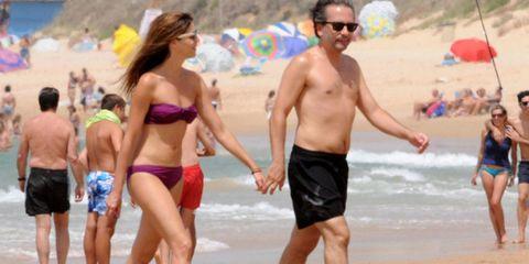 Clothing, Leg, Fun, People, People on beach, Brassiere, Beach, Summer, Chest, Leisure,