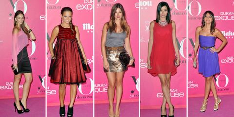 Clothing, Leg, Event, Dress, Red, Pink, Magenta, Formal wear, Style, Flooring,