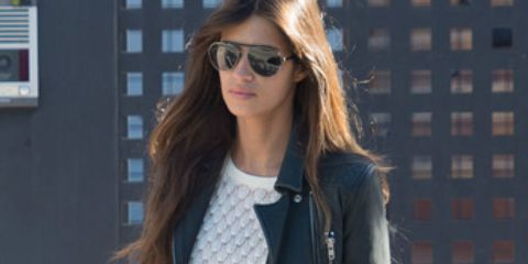Clothing, Eyewear, Glasses, Vision care, Product, Sunglasses, Sleeve, Jacket, Shoulder, Denim,