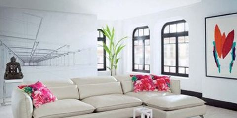 Room, Interior design, Living room, Floor, Furniture, Wall, Home, Table, White, Couch,