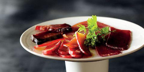 Food, Ingredient, Strawberries, Carmine, Garnish, Produce, Dish, Strawberry, Fruit, Natural foods,