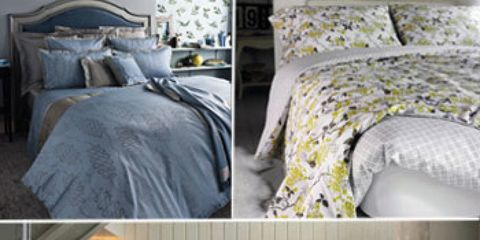 Bed, Blue, Room, Product, Interior design, Bedding, Yellow, Bed sheet, Bedroom, Property,