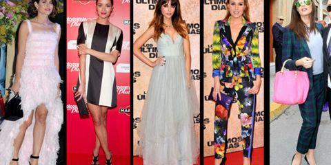 Clothing, Footwear, Dress, Flooring, Outerwear, Red, Carpet, Style, Formal wear, Premiere,