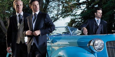 Motor vehicle, Automotive design, Coat, Vehicle, Trousers, Land vehicle, Suit, Classic car, Vehicle door, Car,