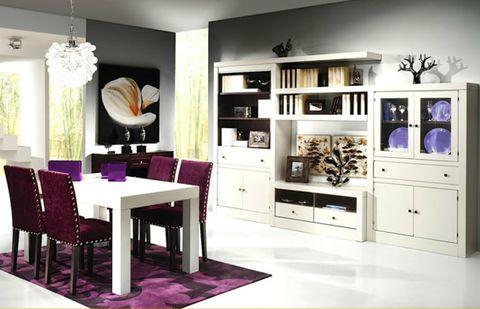 Room, Interior design, Floor, Furniture, Purple, Violet, Interior design, Drawer, Cabinetry, Home,