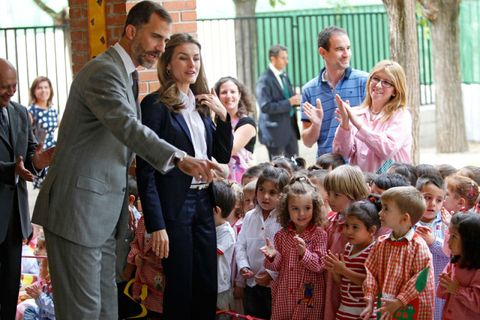 Face, People, Human body, Child, Sharing, Tie, Suit trousers, Ceremony, Family,