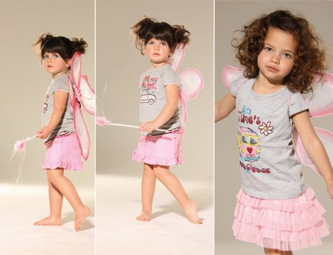 Pink, Child, Baby & toddler clothing, Waist, Toddler, Trunk, Barefoot, Foot, Abdomen, One-piece garment,