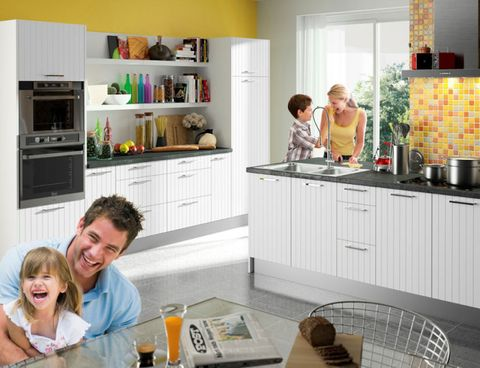 Room, Countertop, Major appliance, Kitchen, Home appliance, Kitchen appliance, Small appliance, Cabinetry, Cupboard, Basket,