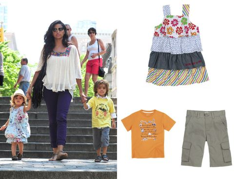 Clothing, Product, Sleeve, Trousers, Textile, Denim, Child, Pink, Style, T-shirt,