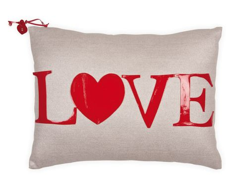 Red, Textile, Cushion, Pillow, Font, Throw pillow, Carmine, Undergarment, Home accessories, Linens,