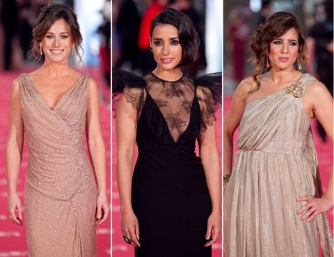 Clothing, Dress, Shoulder, Formal wear, Style, Jewellery, One-piece garment, Fashion accessory, Fashion, Magenta,