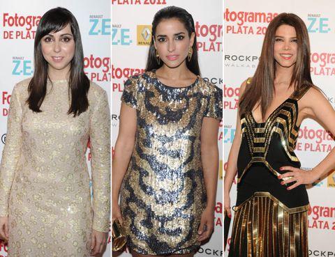Clothing, Dress, Style, Eyelash, Waist, Beauty, One-piece garment, Logo, Fashion, Day dress,