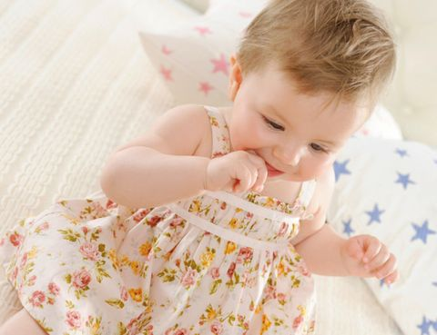 Ear, Pink, Child, Baby & toddler clothing, Toddler, Linens, Baby, Day dress, Embellishment, Baby Products,