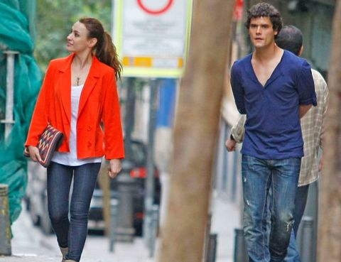 Clothing, Sleeve, Trousers, Denim, Textile, Standing, Jeans, Outerwear, Street fashion, Style,