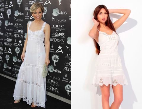 Clothing, Dress, Sleeve, Shoulder, Joint, White, Pattern, Formal wear, Waist, Style,