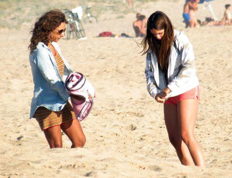Leg, Sand, Fun, Summer, People on beach, Beach, Ball, People in nature, Beauty, Vacation,