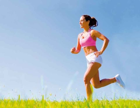Human leg, Happy, People in nature, Summer, Running, Exercise, Field, Knee, Playing sports, Brassiere,