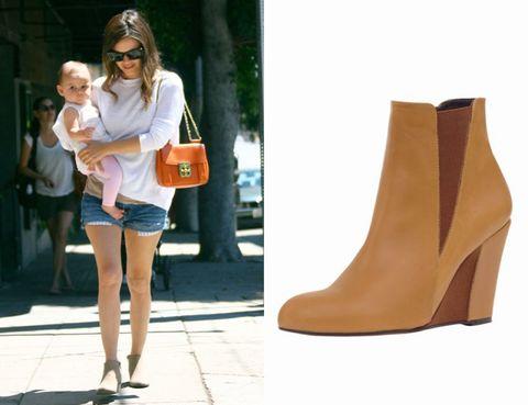 Clothing, Arm, Product, Brown, Boot, T-shirt, Tan, Street fashion, Fashion accessory, Sunglasses,