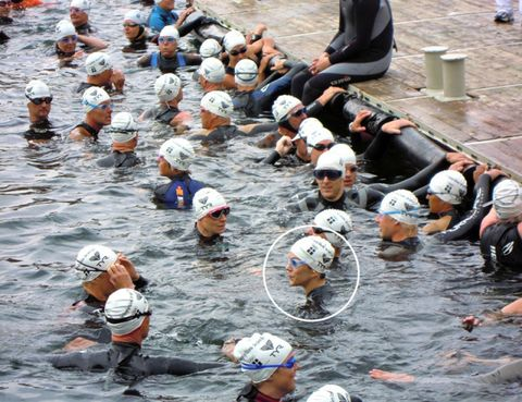 Fluid, Recreation, Endurance sports, Mammal, Personal protective equipment, Competition event, Swim cap, Outdoor recreation, Muscle, Sports,