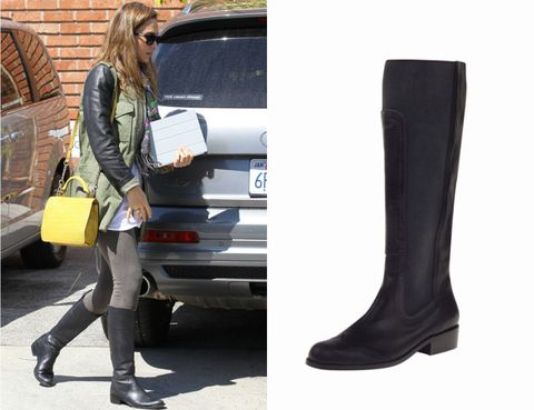 Clothing, Footwear, Leg, Trousers, Outerwear, Bag, Boot, Street fashion, Jacket, Riding boot,