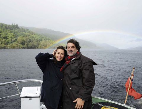 Highland, Tourism, Hill, Jacket, Boat, Travel, Lake, Watercraft, Loch, Rainbow,