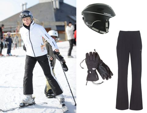 Trousers, Personal protective equipment, Sports equipment, Helmet, Outerwear, Standing, Jacket, Outdoor recreation, Winter sport, Sports gear,