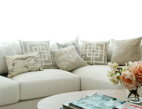 Brown, Room, Interior design, Furniture, Living room, White, Couch, Pillow, Home, Throw pillow,