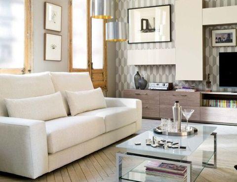 Room, Interior design, Living room, Floor, Wall, Couch, Home, Furniture, Interior design, Flooring,