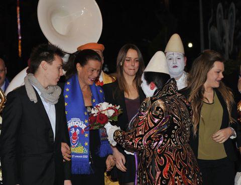 Human, Fashion accessory, Costume accessory, Party, Costume, Dishware, Fur, Makeover, Costume hat, Sun hat,