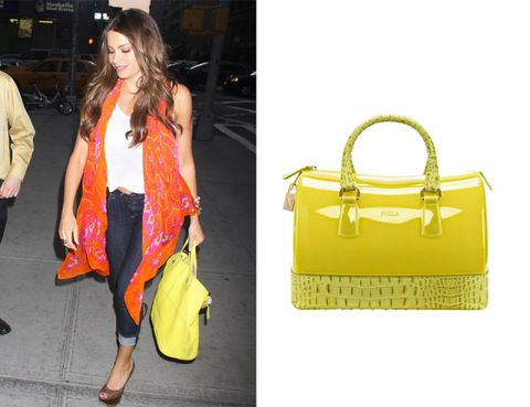Yellow, Bag, Outerwear, Coat, Style, Fashion accessory, Luggage and bags, Shoulder bag, Fashion, Handbag,