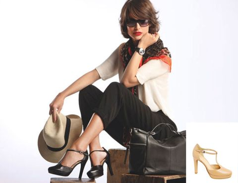 Brown, Shoulder, Bag, Style, Sitting, Fashion accessory, Bangs, Fashion, Tan, Knee,
