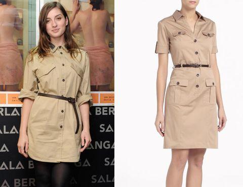 Brown, Product, Dress shirt, Collar, Skin, Sleeve, Shoulder, Khaki, Standing, Textile,