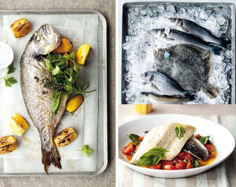 Food, Ingredient, Seafood, Strawberries, Strawberry, Tableware, Fish, Produce, Natural foods, Recipe,