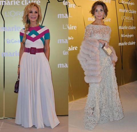 Clothing, Human, Dress, Shoulder, Flooring, Style, One-piece garment, Formal wear, Fashion, Gown,