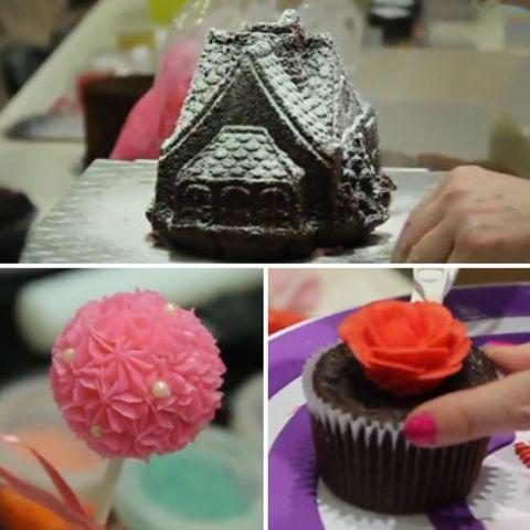 Sweetness, Food, Cake, Dessert, Cuisine, Cupcake, Pink, Baked goods, Ingredient, Cake decorating,
