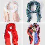 White, Pattern, Style, Orange, Neck, Grey, Wrap, Stole, Fashion design, Shawl,