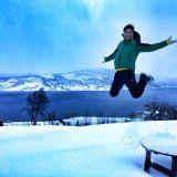 Nature, Winter, Human, Fun, Natural environment, Atmosphere, Photograph, Landscape, Happy, Freezing,