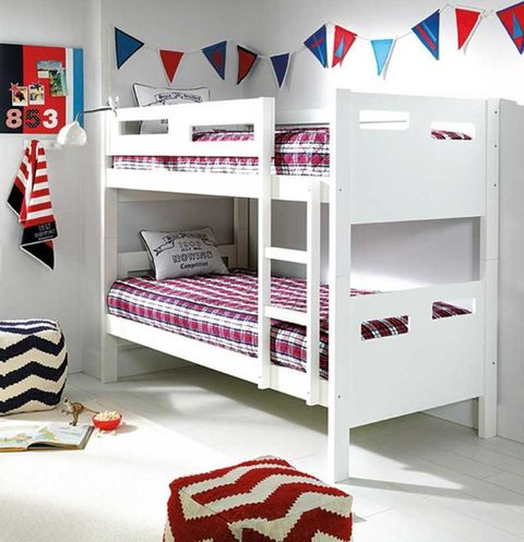 Product, Room, Interior design, Bed, Red, Textile, Bedding, White, Floor, Linens,
