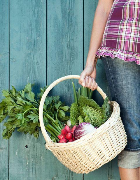 Whole food, Denim, Jeans, Vegan nutrition, Natural foods, Produce, Ingredient, Local food, Food, Basket,