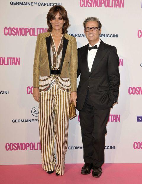 Coat, Trousers, Shirt, Flooring, Outerwear, Suit, Formal wear, Style, Carpet, Jewellery,
