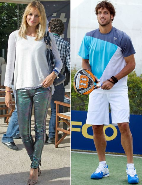 Footwear, Trousers, Denim, Sports equipment, Textile, Jeans, Outerwear, Tennis racket, Style, Playing sports,