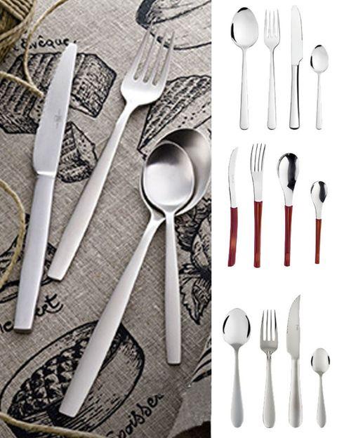 Dishware, Cutlery, Tableware, Kitchen utensil, Grey, Household silver, Silver, Fork, Basket, Steel,