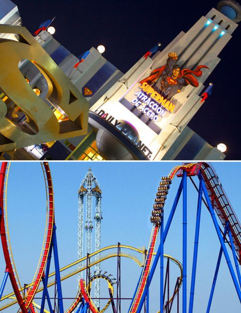 Blue, Daytime, Event, Red, Line, Landmark, Amusement ride, Majorelle blue, World, Amusement park,