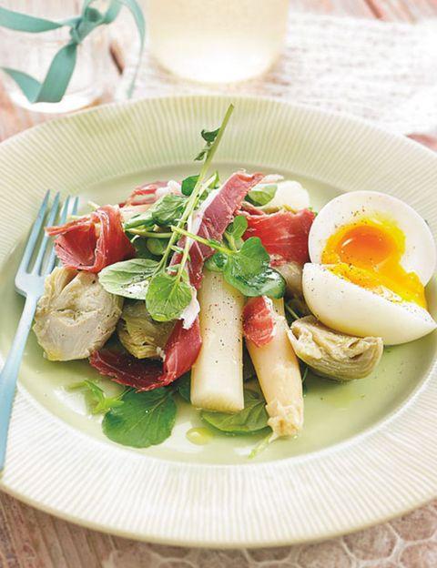 Food, Egg yolk, Serveware, Ingredient, Dishware, Egg white, Cuisine, Dish, Salad, Breakfast,